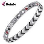 Rainso 100% Titanium Health <b>Jewelry</b> Energy Magnetic Bracelet Bangle For Women <b>Jewelry</b> 4 Elements <b>Accessories</b> OTB-034SBFIR