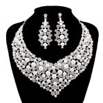 Youfir Fashion Wedding Party silver color <b>Jewelry</b> Sets Women crystal pearl for Bridal Necklace&Earrings <b>Accessory</b> Love Gifts