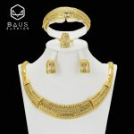 2018 Earrings <b>Jewelry</b> Set african beads <b>jewelry</b> set Nigeria Women Wedding Gold Color Fashion Party Turkish Classic <b>Accessorie</b>