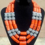 Handmade 3 Layers Real Coral Beads Chunky Women <b>Jewelry</b> Sets Silver <b>Accessory</b> African Bridal Costume <b>Jewelry</b> Set CNR046