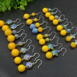 Baltic Amberes beeswax earrings Cool Stunning Genuine Natural Stone Trendy <b>Antique</b> Silver <b>Jewelry</b> earring