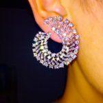 L3.4*W2.9cm AAA cubic zirconia novel design curve stud earrings for women fashion <b>jewelry</b> party ear wedding <b>accessories</b> gift