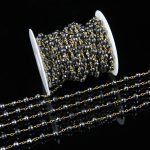 6mm Faceted Black Hematite Round Beads Rosary Chain,Black Pyrite Beads Chain Charms,<b>Antique</b> Bronze Wire Chain Bracelets Link