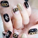 Nail <b>Art</b> Chain <b>Jewelry</b> Nail Decoration Chain Phone <b>Deco</b> 3 Sections Zipper Design Metal Fantasy Black Gold DIY Street <b>Art</b> Tools
