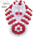 Brand Laanc Big Chunky Indian Bridal <b>Jewelry</b> Sets Wedding <b>Accessories</b> Nigerian African Beads Necklace For Women AL178