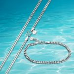 925 sterling silver men's necklace and bracelet, men's <b>Jewelry</b> Sets fashion trend horsewhip chain man <b>accessories</b>, width 4mm