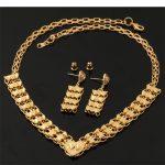 Heart <b>Jewelry</b> Sets For Women Necklace Drop Earrings Gold Color Fashion <b>Jewelry</b> Bridal Wedding <b>Accessories</b> NE230