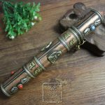 Free delivery exquisite hand carved <b>antique</b> <b>jewelry</b> old brass bronze Buddhist Nepal peace pipe decoration
