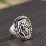 The golden deer wholesale <b>jewelry</b> line S925 pure silver ring <b>Antique</b> style lovers of Kublai Khan new products