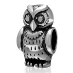 <b>Antique</b> Tone Real 925 Sterling Silver Big Hole Owl Animal European Charm Beads Fashion <b>Jewelry</b> Making Accessories SAPB3110