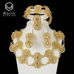 BAUS 2018 Dubai Gold Color <b>Jewelry</b> Sets fashion Design Nigerian Women Wedding <b>Jewelry</b> African <b>Jewelry</b> Sets Wholesale <b>Accessories</b>