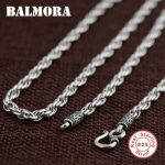 BALMORA BALMORA 100% Real 925 Sterling Silver <b>Jewelry</b> Retro Chains Necklaces for Men Male Pendant <b>Accessories</b> Bijoux SZ0157