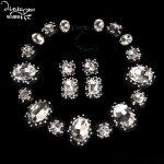 Dvacaman Brand 2017 Fashion Crystal Wedding Party Statement Necklace&Earrings Indian Bridal <b>Jewelry</b> Sets Women <b>Accessories</b> O16