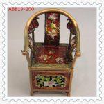 Miniature <b>Antique</b> Chair <b>Jewelry</b> Trinket Box Bejeweled Chinese Chair Shaped Decorative Wedding Gift