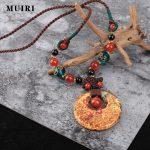 <b>Antique</b> Necklace Original Design Natural Store <b>Jewelry</b> Simple Elegant Long Wax Rope Necklace Vintage Necklaces Pendants