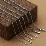 Dia 1.5/2.0/3.0 mm Solid 925 Sterling Silver Cord Rope Chain Necklace For <b>Jewelry</b> Making Top Craft <b>Jewelry</b> Components