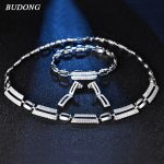 BUDONG Antique Infinity Bridal <b>Jewelry</b> Sets Wedding Necklace Earrings Bracelet For Brides Dating <b>Accessories</b> Women XUT803