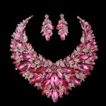 Pink Christmas wife Present <b>Jewelry</b> sets Bridal Necklace Earring Sets Women Statement Wedding Decoration <b>Jewelry</b> <b>accessories</b>
