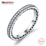 LZESHINE 100% S925 Silver Heart Stackable Rings With Dazzling AAA CZ Brand Engagement Rings For Women <b>Jewelry</b> <b>Accessories</b>