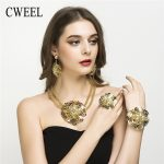Women <b>Jewelry</b> Sets Wedding Fashion Flower Silver/Gold Color African Beads Vintage Party Statement Big Necklace <b>Accessories</b>