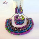 BRW 2017 Ankara Necklace Earrings Bracelet <b>Jewelry</b> Sets African Wax Fabric Print Ankara <b>Jewelry</b> Sets Handmde <b>Accessories</b> WYX12