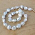 Women Gift word 925 <b>Sterling</b> <b>silver</b> real The new natural baroque pearl necklace shaped beads natural colorful light sect
