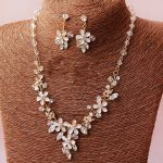 Dower me Handmade Gold Flower Crystal Wedding <b>Jewelry</b> Sets Fashion Bridal Necklace Earrings <b>Accessories</b> Women Prom <b>Jewelry</b>