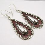 Chanti International Solid Silver GIRLS' AMAZING TRIBAL Earrings 5.7CM <b>ANTIQUE</b> LOOK <b>JEWELRY</b> NEW