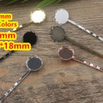 Cabochon 18mm,20mm,13*18mm Lace pad Tray Barrettes <b>Antique</b> Bronze/Gold/Silver/Black Hair Bobby Pin clip,Vintage <b>Jewelry</b> 100pc