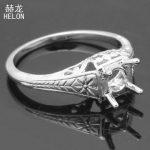 <b>Art</b> Nouveau Fine <b>Jewelry</b> 925 Sterling Silver 5.5mm to 6mm Semi Mount Engagement Wedding Ring Vintage Antique <b>Art</b> <b>Deco</b> Women Ring
