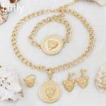 Liffly Fashion Animal Shape Design 18 Gold <b>Jewelry</b> Set Big Necklace Bracelet Earrings Charm Women <b>Accessories</b> <b>Jewelry</b>