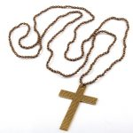 Fashion Handmade mini <b>antique</b> ball knotted with cross Pendant Long Necklace Women <b>Jewelry</b>