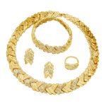 Creative Fashion Women 18 Gold <b>Jewelry</b> Sets Crystal Bracelet Ring Earrings European Charm Bridal <b>Accessories</b> <b>Jewelry</b>