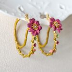 Warmhome Trendy <b>Jewelry</b> Enamel Glaze Copper <b>Fashion</b> Cosmos Flower Gem For Women Earrings
