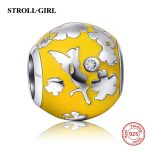 2018 New arrival silver 925 Fit Authentic pandora Bracelet <b>Antique</b> color Enamel Charms Beads CZ stone DIY <b>Jewelry</b> Making Gifts