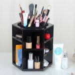 <b>Fashion</b> Makeup Cosmetic Storage Box 360-degree Rotating Makeup Organizer Box Brush Holder <b>Jewelry</b> Organizer Case <b>Jewelry</b>