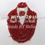 Luxury Red Coral Wedding Beads <b>Jewelry</b> Set <b>Handmade</b> African <b>Jewelry</b> Sets Indian Wedding Beads Necklace Free Shipping ABC424