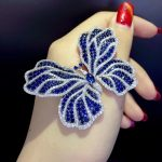 blue and white mixed color insect butterfly brooch 925 <b>sterling</b> <b>silver</b> with cubic zircon fashion women <b>jewelry</b> free shipping