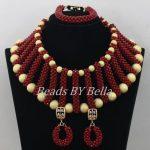 <b>Handmade</b> Wine Color Nigerian Wedding African Beads <b>Jewelry</b> Set Trendy Beads New African Fashion <b>Jewelry</b> Set Free Shipping ABF547