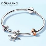 DORAPANG 100% 925 Sterling <b>Silver</b> Brand New <b>Bracelet</b> Rose Bella And Friends Family <b>Bracelet</b> Set Suitable For DIY Robot Gift