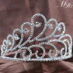 Elegant Brides Tiara w/ Hair Combs Clear Rhinestones Crystal Crown Bridal Wedding Pageant Party Silver Accessories Hair <b>Jewelry</b>