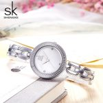 Shengk New Fashion Female Wristwatch Brand Ladies <b>Silver</b> <b>Bracelet</b> Quartz Hour Hook Buckle Clock Beautiful Gifts Reloj Mujer 2018