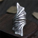 <b>Handmade</b> Exaggerated Real Pure 999 Sterling Silver Large Rings For Women Plant Flower Leaves Shaped Vintage Rings Fine <b>Jewelry</b>