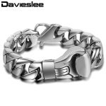 15mm 21.6cm Mens Boys Chain Smooth Curb Link Boxing Boxer Glove 316L Stainless Steel Bracelet Wholesale Gift <b>Jewelry</b> LHB374