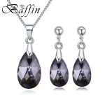 2018 BAFFIN Original Crystals From SWAROVSKI <b>Jewelry</b> Sets Mini Water Drop Pendant Necklaces Earrings For Women Lovers Gift