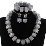 <b>Silver</b> Chunky Statement Necklace Set Vintage <b>Silver</b> Accessory Indian Bridal Jewelry Set Single Row Women Choker Necklace WE198