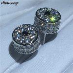 choucong Lady Crown Shape earrings Crystal zircon cz White Gold Filled Party <b>Wedding</b> Stud Earrings for women fashion <b>jewelry</b>