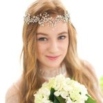 Jonnafe Fashion Silver Rhinestone Pearl Bridal Headband <b>Handmade</b> Wedding Hair Accessories <b>Jewelry</b>