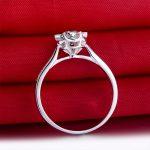18K White Gold 0.50+0.09ct Natural GIA Diamond Women Ring <b>Handmade</b> 6-Claw Wedding Band Engagement <b>Jewelry</b>