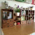 New arrival <b>Fashion</b> Beautiful Household Woodiness Desktop Storage box DIY Assembly Cosmetics StationeryOrganizers 2grid 2 drawer